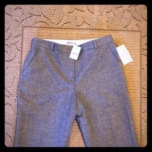 NWT J. Crew Size 8 wool blend trousers in gray